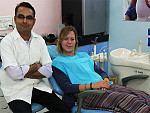 Dr. Patel with foreign patient